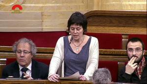 Pilar Castillejo en una intervenció parlamentària / PARLAMENT