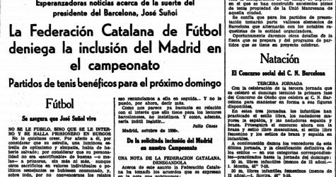 La Lliga Catalana que el Madrid no va poder jugar durant la Guerra Civil