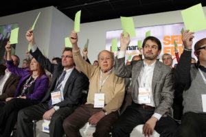 Artur Mas, Jordi Pujol i Oriol Pujol Ferrusola. Congrés de CDC a Reus, any 2012. Foto: CDC / Jordi Play