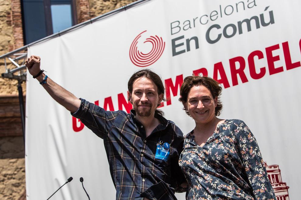 Pablo Iglesias i Ada Colau a Nou Barris el passat dissabte. Foto: Jordi Borràs