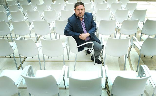 Oriol Junqueras i l'aritmètica del procés. Foto: Ivan Giménez