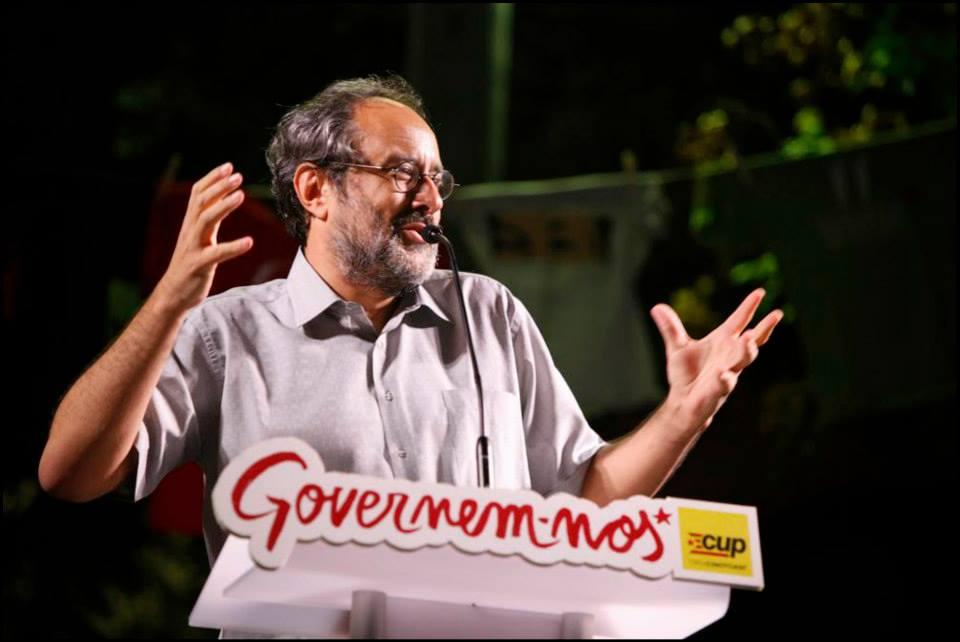 Antonio Baños, candidat de la CUP, en un acte a Terrassa. Foto: Oriol Clavera
