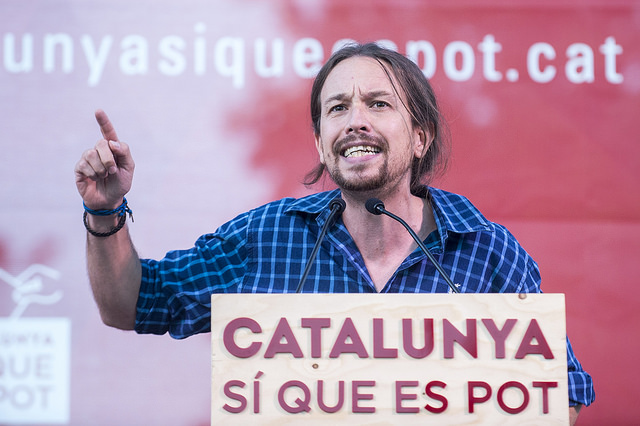Pablo Iglesias ha guanyat protagonisme en la campanya. Foto: CSQeP.