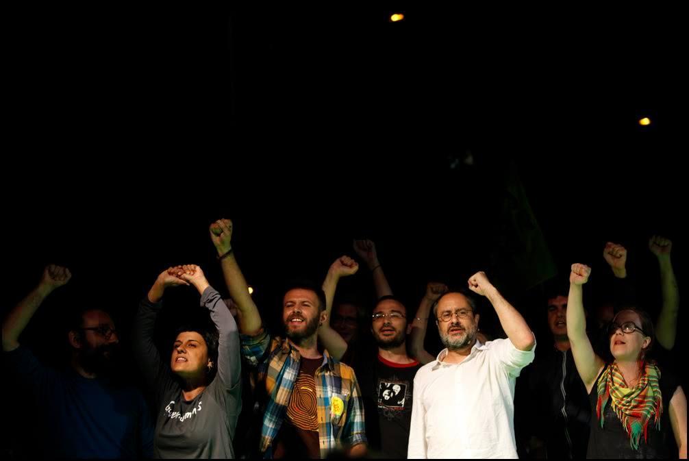 Acte de final de campanya de la CUP a Badalona. Foto: Oriol Clavera