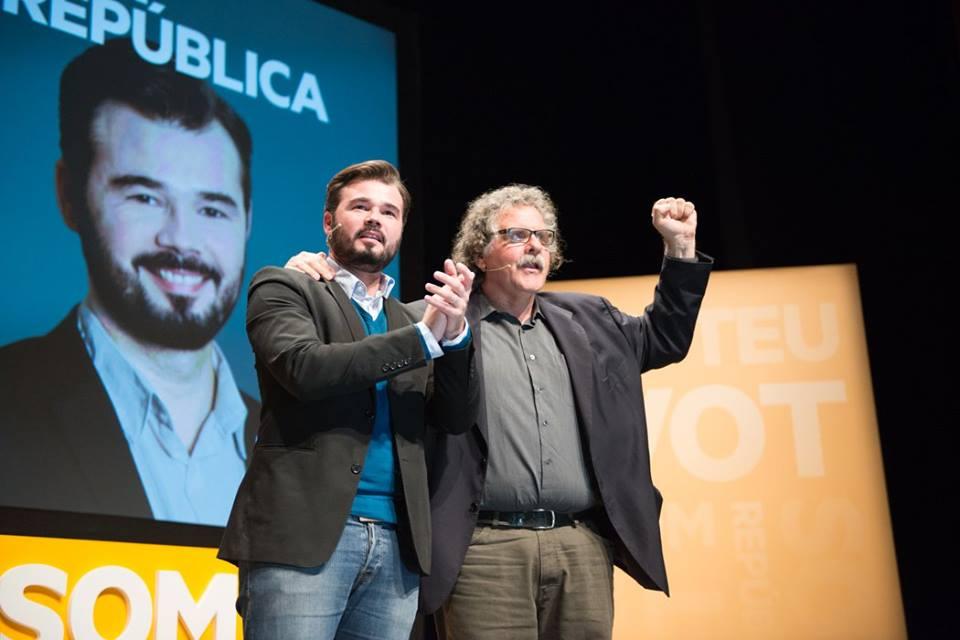 Gabriel Rufián i Joan Tardà, el tàndem d'ERC a Madrid. Foto: ERC