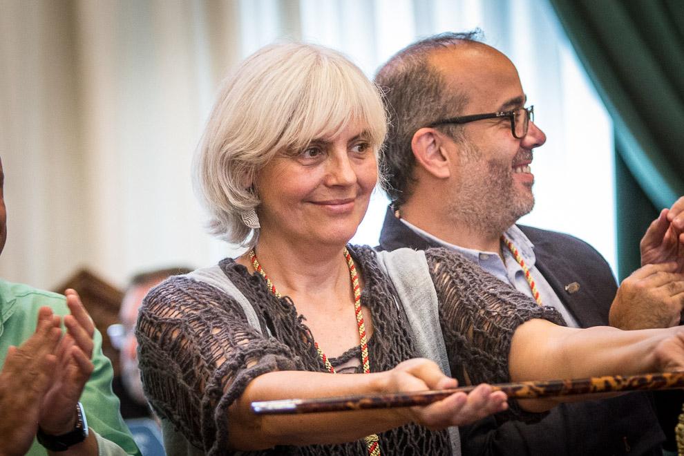Dolors Sabaté, alcaldessa de Badalona per Guanyem Badalona en Comú. Foto: Jordi Borràs