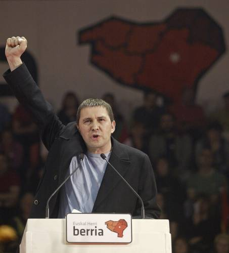 Otegi, en un míting de 2006. Foto: Kaos en la Red.