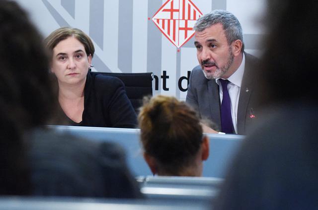 Ada Colau i Jaume Collboni ultimen un pacte de govern. Foto: Ajuntament de Barcelona