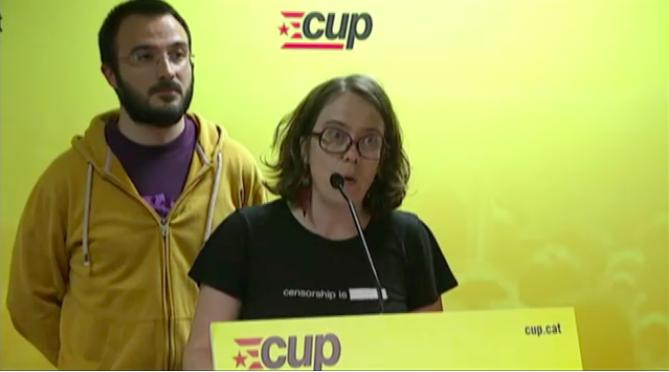 Eulàlia Reguant i Albert Botran, diputats de la CUP. Foto: 324.cat