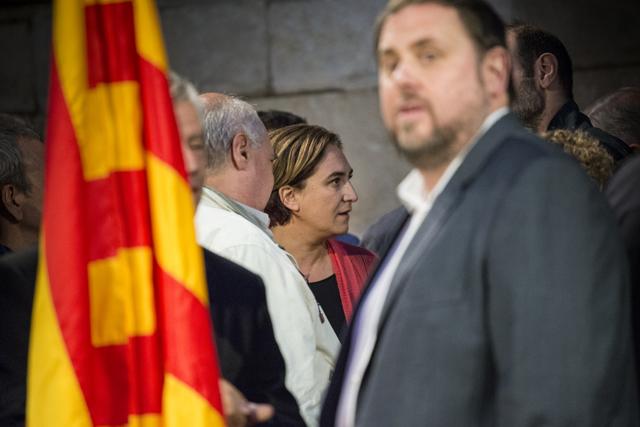 Ada Colau i Oriol Junqueras lideren els dos espais emergents de l'esquerra catalana. FOTO: Sandra Lázaro