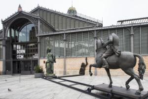 Exterior de l'exposició Franco, Victòria, República. Foto: Born CC