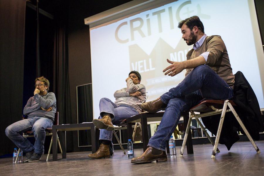 Xavier Domènech, Gabriela Serra i Gabriel Rufián en un debat crític. FOTO: Jordi Borràs