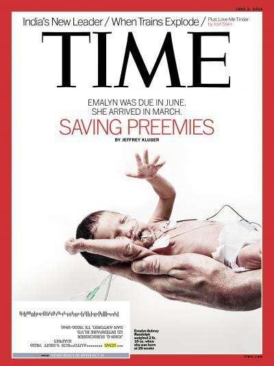 Portada de la revista Time, al maig de 2014, amb un anunci a la part de baix i a l'esquerra / ARXIU