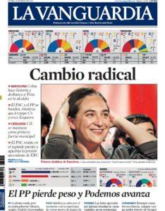 Portada de La Vanguardia l'endemà de les eleccions / CRÍTIC
