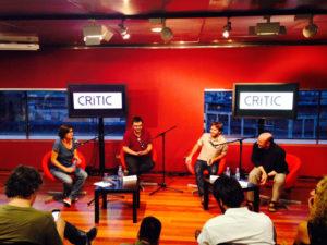 Presentació de CRÍTIC el setembre de 2014 al CCCB, amb Natza Farré i Xavier Giró / ARXIU