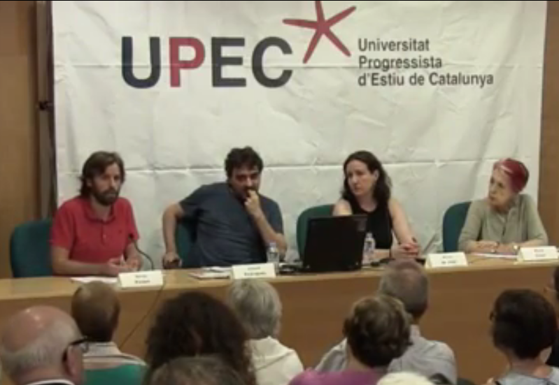 Els periodistes Rosa Maria Calaf, Núria de José, Jesús Rodríguez i Sergi Picazo, a la UPEC / CRÍTIC