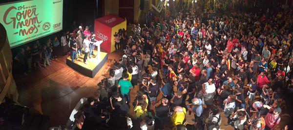 Nit electoral, ahir, celebrada per la CUP amb militants i una part dels futurs diputats / CUP