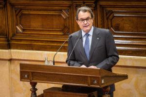 Artur Mas, en el ple d'investidura, celebrat aquesta setmana al Parlament / JORDI BORRÀS
