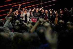 Nit electoral d'En Comú Podem el 20-D a l'Estació de França / GEORGIE URIS