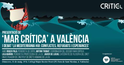 Presentem 'Mar Crítica' amb un debat a València el pròxim 31 de maig