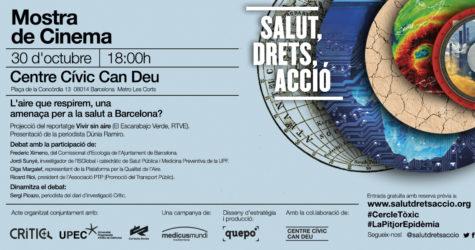 #DebatCRÍTIC sobre la qualitat de l'aire a Barcelona, dins la Mostra 'Salut, drets, acció'