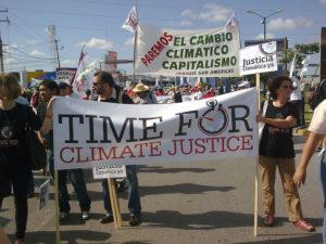 Manifestació per una justícia climàtica a Cancún / Foto: CSA-TUCA