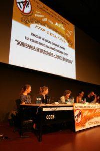 Taula rodona sobre el TTIP celebrada a Barcelona / Ricard Ballera