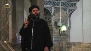 El líder de l'Estat Islàmic, Abu Bakr al-Bagdadi, en un vídeo difós recentment
