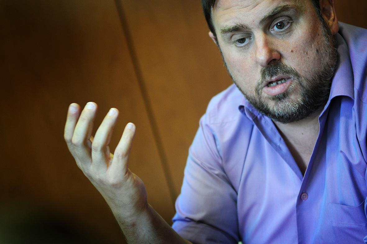 Oriol Junqueras, líder d'ERC. Foto: Ivan Giménez