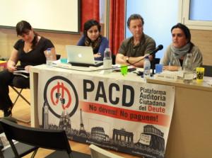 """La PACD creu que no s'ha de pagar el """"deute il·legítim"""". Foto: Cooperativa Integral Catalana"""