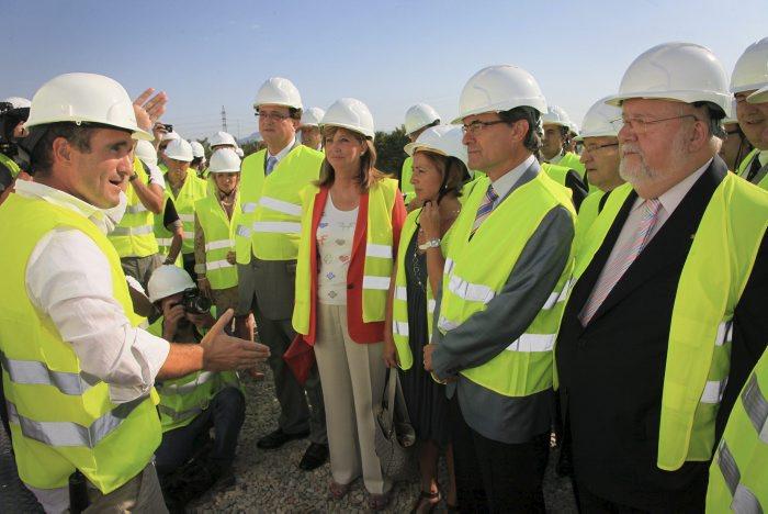 Artur Mas visita les obres del Centre de Formació de l'Automoció a Martorell, una obra adjudicada a Comsa-Emte. Foto: Comsa-Emte
