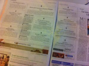 Necrològiques publicades al diari La Vanguardia / S. P. G.