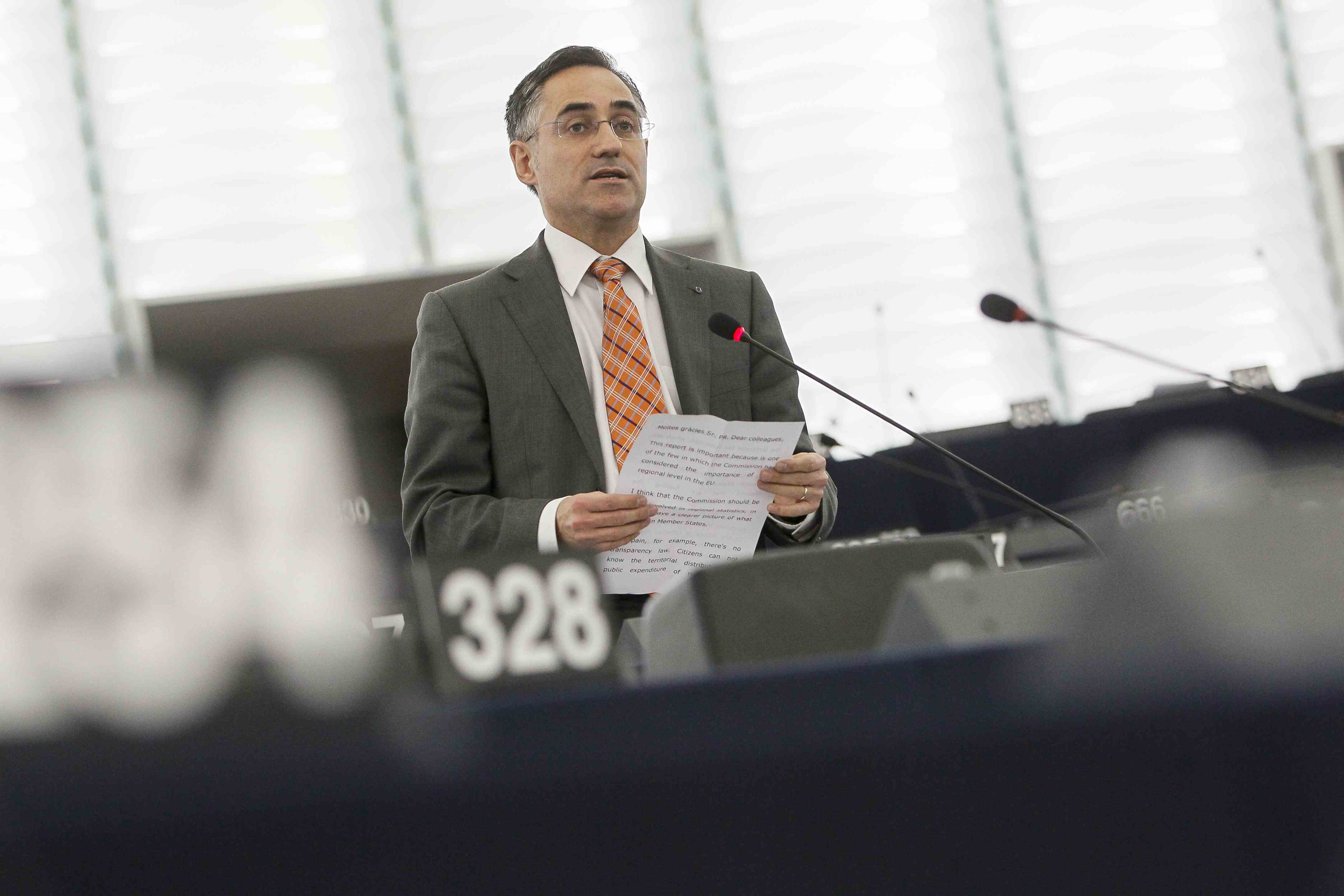 L'eurodiputat de CiU, Ramon Tremosa, a Brussel·les / PARLAMENT EUROPEU