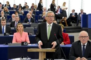 El president de la Comissió Europea, Jean Claude Juncker, en una sessió plenària a Brussel·les / PARLAMENT EUROPEU