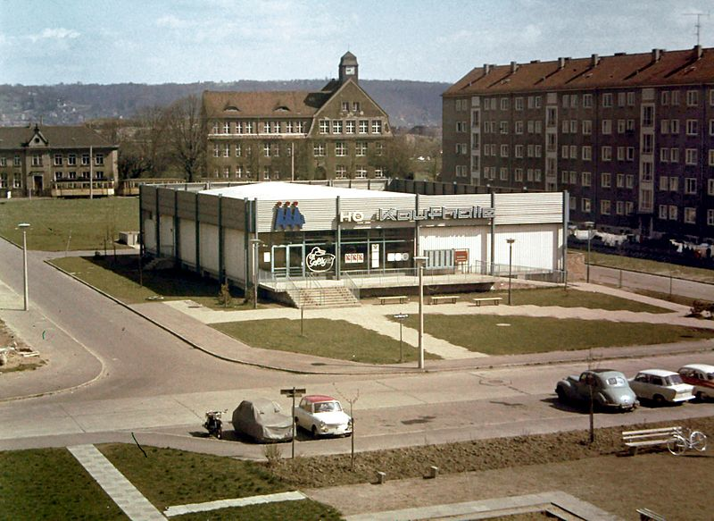 Un supermercat a la República Democràtica d'Alemanya