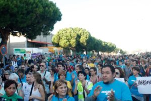 Protesta convocada contra el CIE de la Zona Franca a Barcelona / RAQUEL RAPPINI