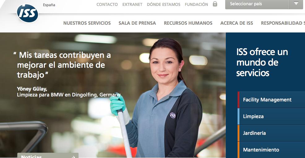 ISS Facility Services ofereix serveis de neteja i càtering a la seva web / CRÍTIC