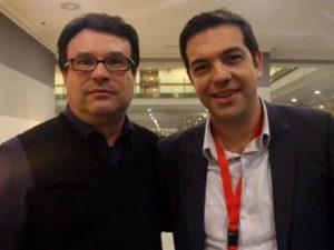 Joan Josep Nuet, d'EUiA, i Alexis Tsipras, al V Congrés del Partit de l'Esquerra Europea celebrat a Madrid / EUiA