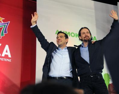 Pablo Iglesias i Alexis Tsipras, a Grècia / ARXIU