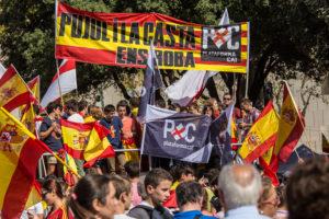 Militants de PxC a l'acte de SCC del 12-O a Barcelona / J. BORRÀS