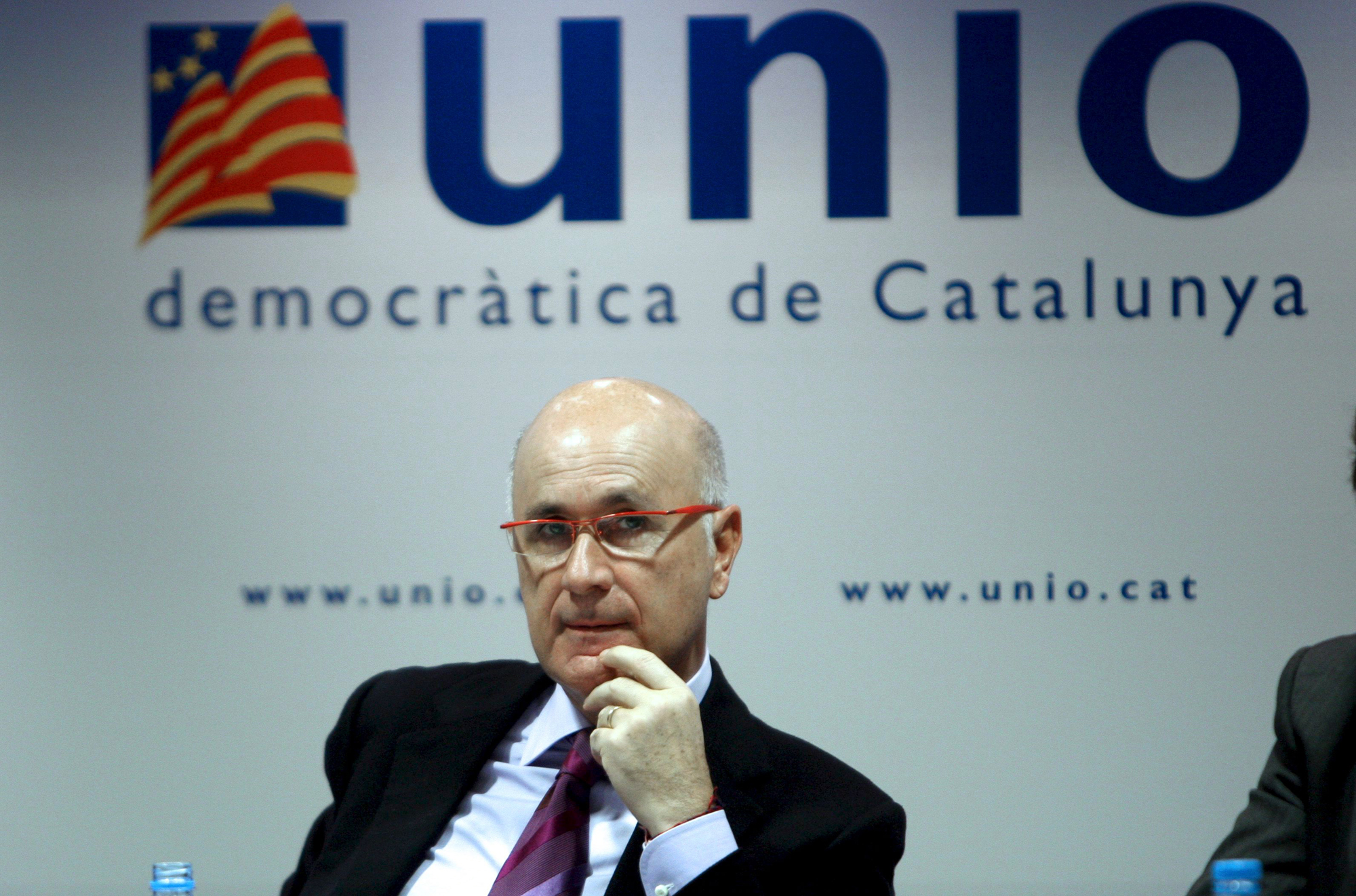 Duran i Lleida, a la seu d'Unió Democràtica de Catalunya / CiU