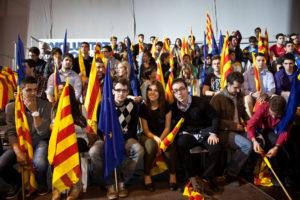 Membres de les Joventuts Nacionalistes de Catalunya, la branca juvenil de CDC / JORDI BORRÀS