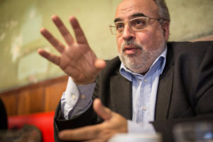 Enric Juliana, subdirector de 'La Vanguàrdia', creu que el diari és un cas inèdit en pluralitat d'opinadors. Foto: Jordi Borràs