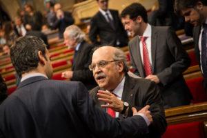 El conseller d'Economia, Andreu Mas-Colell, al Parlament / JORDI BORRÀS
