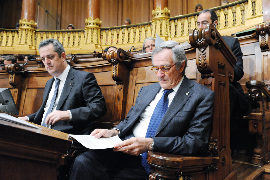 Xavier Trias i Joaquim Forn, de CiU, en un plenari municipal de 2011 / AJUNTAMENT DE BARCELONA