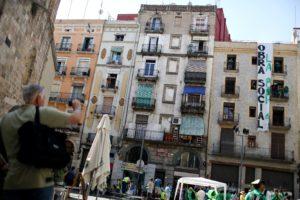Ocupació organitzada per part de la PAH d'un bloc de pisos buits a Barcelona / C. MORENO