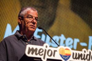 José María Fuster-Fabra, exlíder de les joventuts de Fuerza Nueva, en un acte de C's. Foto: Jordi Borràs