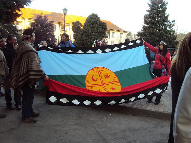 Manifestació de suport al poble maputxe. Foto: Carol Crisosto