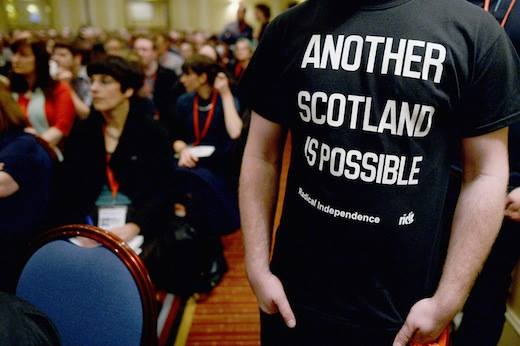 Activista de la Radical Independence Campaign. Foto: RIC