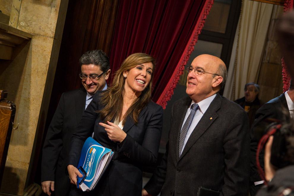 Boi Ruiz i la líder del PP a Catalunya, Alícia Sánchez-Camacho, al Parlament / JORDI BORRÀS